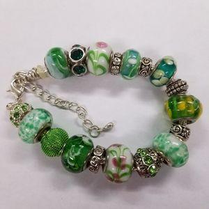 NWOT European Murano Glass Beaded bracelet